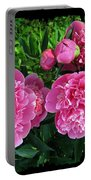 Fragrant Pink Peonies Portable Battery Charger