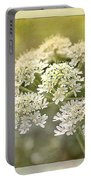 Framed Cow Parsley Portable Battery Charger