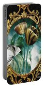Framed Flowers Portable Battery Charger