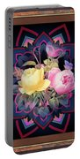 Framed Rose Bouquet Montage Portable Battery Charger