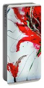 Framed Scribbles And Splatters On Canvas Wrap Portable Battery Charger