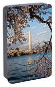 Framed With Blossoms Portable Battery Charger