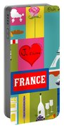 France Vertical Scene - Collage Portable Battery Charger