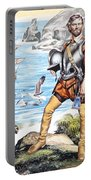 Francis Drake And The Golden Hind Portable Battery Charger