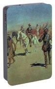 Francisco Vasquez De Coronado Making His Way Across New Mexico Portable Battery Charger
