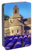 All Purple, Cistercian Abbey Of Notre Dame Of Senanque, France  Portable Battery Charger