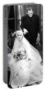 Frankenstein Monster Sneaks Up On Bride 1931 Movie Portable Battery Charger