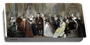 Franklin's Reception At The Court Of France Portable Battery Charger