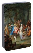Franz Christoph Janneck Graz 1703-1761 Vienna A Dance In The Palace Gardens, Portable Battery Charger