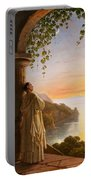 Franz Ludwig Catel  A Monk Meditating In A Cloister Portable Battery Charger