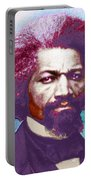 Frederick Douglass Painting In Color Pop Art Portable Battery Charger