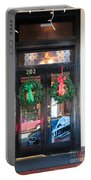 Fredricksburg Door Decorated For Christmas Portable Battery Charger