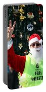Free Palestine Santa Portable Battery Charger