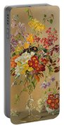 Freesias And Primroses Portable Battery Charger