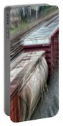 Freight Train Abstract Portable Battery Charger