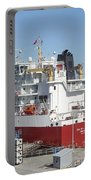 Freighter In Lock Of Saint Lawrence Portable Battery Charger