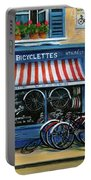 French Bicycle Shop Portable Battery Charger