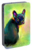 French Bulldog Painting 4 Portable Battery Charger