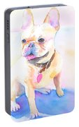 French Bulldog Watercolor Portable Battery Charger