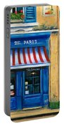 French Cheese Shop Portable Battery Charger by Marilyn Dunlap