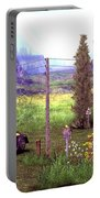 French Countyside  Scene Portable Battery Charger