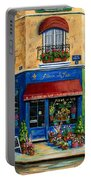 French Flower Shop Portable Battery Charger