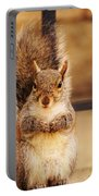 French Fry Eating Squirrel2 Portable Battery Charger
