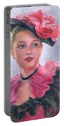 French Girl Portable Battery Charger