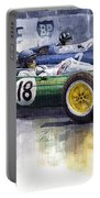 French Gp 1963 Start Lotus Vs Brm Portable Battery Charger
