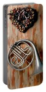 French Horn Hanging On Wall Portable Battery Charger