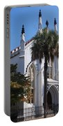 French Huguenot Church In Charleston Portable Battery Charger