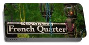 French Quarter Sign Portable Battery Charger
