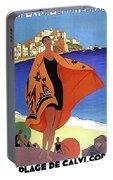 French Riviera, Woman On The Beach, Paris, Lyon, Mediterranean Railway Portable Battery Charger