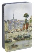 French View Of Honfleur Portable Battery Charger