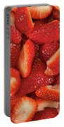 Fresh Cut Strawberries Portable Battery Charger