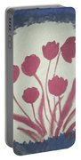 Fresh Flowers- 1st In Series-morning Shadow Portable Battery Charger