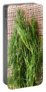 Fresh Green Dill On Jute Bag Portable Battery Charger
