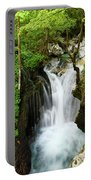 Fresh Green Forest In Spring At Lepenica River Gorge At Sunikov  Portable Battery Charger