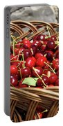 Fresh Picked Cherries In A Wicker Basket In Dolnje Cerovo In The Portable Battery Charger
