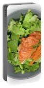 Fresh Seafood Salad With Smoked Salmon Portable Battery Charger
