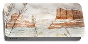 Fresh Snow On Bell Rock Portable Battery Charger