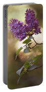 Fresh Violet Lilac Flowers Portable Battery Charger