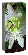 Fresh White Passion Flower  Portable Battery Charger