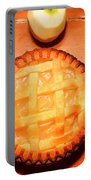 Freshly Baked Pie Surrounded By Apples On Table Portable Battery Charger