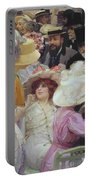 Friday At The French Artists Salon Portable Battery Charger by Jules Alexandre Grun