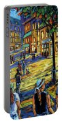 Friday Night Walk Prankearts Fine Arts Portable Battery Charger