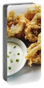 Fried Calamari Squid Rings With Aioli Garlic Sauce Portable Battery Charger