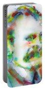 Friedrich Nietzsche - Watercolor Portrait.10 Portable Battery Charger