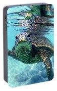 friendly Hawaiian sea turtle  Portable Battery Charger