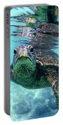 friendly Hawaiian sea turtle  Portable Battery Charger
